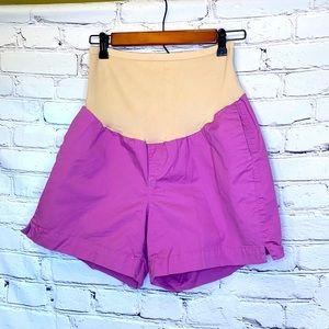 Old Navy Purple Maternity Chino Shorts Size 10